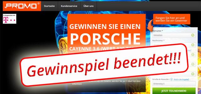 Porsche Cayenne Gewinnspiel beendet