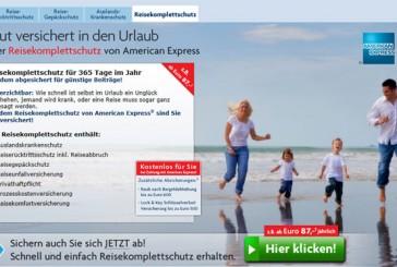 10 % Gutschein auf AMEX Reiseversicherung