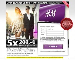 H&M Einkaufsgutschein 200 Euro - PROLEAGION