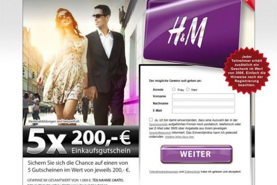 200 Euro Shoppinggutschein von H&M gewinnen