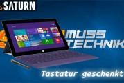 Saturn Aktion : Microsoft Surface Pro 2 – Tastatur geschenkt!