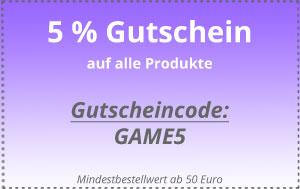 5 Prozent Gutschein
