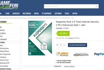 Preisvergleich: Kaspersky Pure 3.0 - Online geht es noch günstiger
