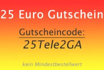 Tele2 Gutschein: Allnet Tarif plus 25 Euro absahnen