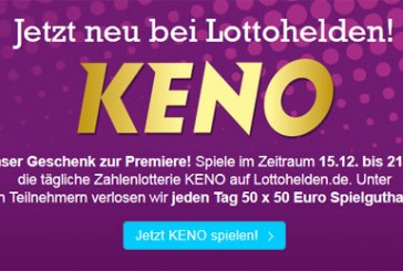 Premiere: Lottohelden bringt KENO an den Start