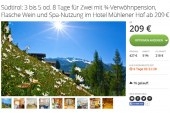 Groupon Deal: 3-8 Tage Entspannung pur in Südtirol ab 209 Euro