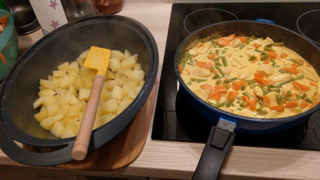 curry-aufkochen